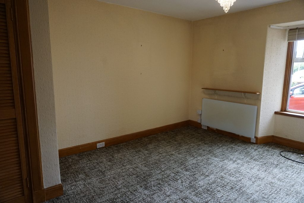 Picture of living room on day one