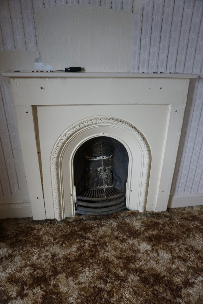 Picture of cast iron fireplace